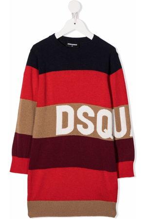 Dsquared2 Dziewczynka Sukienki dzianinowe - Stripe-print midi dress