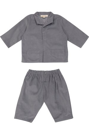 Caramel Baby Flollis cotton pajama set