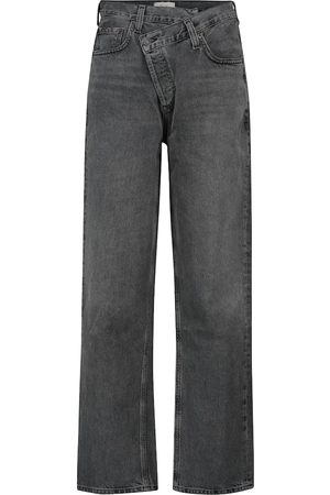 AGOLDE Criss Cross high-rise straight jeans