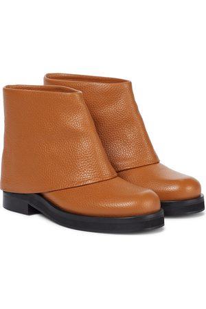 JW Anderson Kobieta Botki - Foldover leather ankle boots