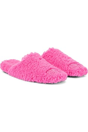 Balenciaga Kobieta Kapcie - Cosy BB faux shearling slippers
