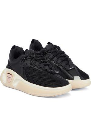 Balmain B-Runner leather-trimmed mesh sneakers