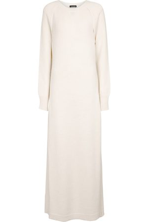 ANN DEMEULEMEESTER Alpaca, wool and cashmere sweater dress