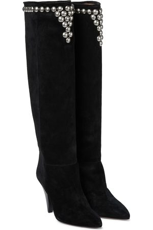 Isabel Marant Libree studded suede knee-high boots