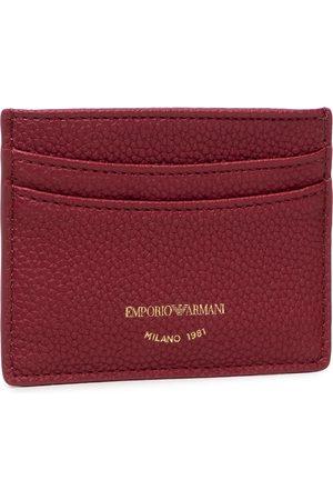 Emporio Armani Etui na karty kredytowe - Y3H013 YFW9B 80401 Wine