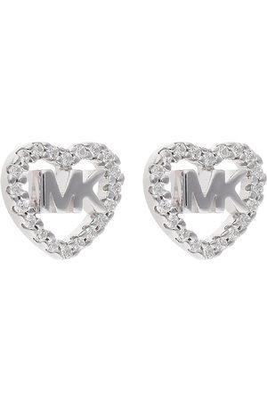 Michael Kors Kolczyki - Logo Heart Stud MKC1243AN040 Silver Clear