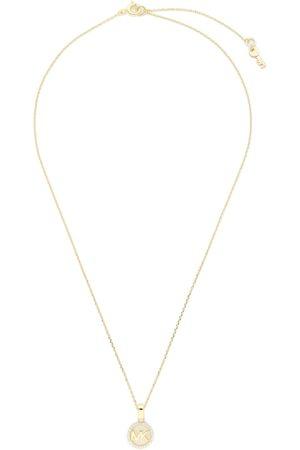 Michael Kors Łańcuszek - Logo Charm Neck MKC1108AN710 Gold Clear