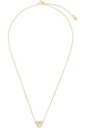 Michael Kors Łańcuszek - Logo Heart Neck MKC1244AN791 Rose Gold Clear