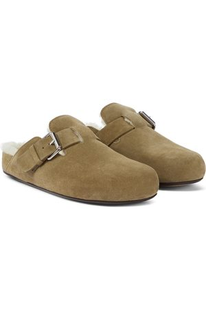 Isabel Marant Mirvin suede and shearling slippers