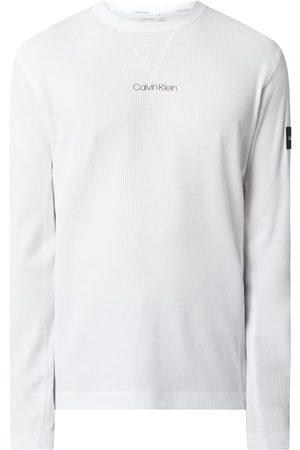 CK Calvin Klein Bluzka z długim rękawem z fakturą wafla