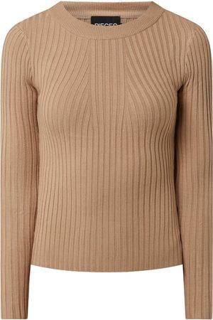 Pieces Kobieta Swetry i Pulowery - Sweter z mieszanki wiskozy model 'Crista'