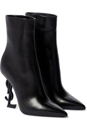 Saint Laurent Kobieta Botki - Opyum leather ankle boots