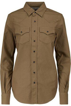 Saint Laurent Kobieta Koszule z długim rękawem - Cotton ripstop shirt