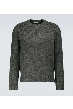Saint Laurent Swetry i Pulowery - Heavy-knit crewneck sweater
