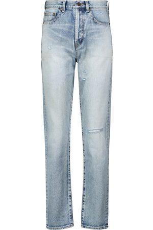 Saint Laurent Kobieta Z wysokim stanem - High-rise slim jeans