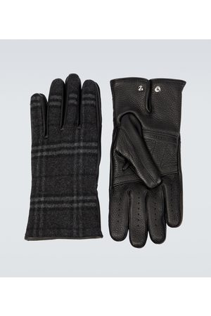 Burberry Rękawiczki - Cashmere and wool blend gloves