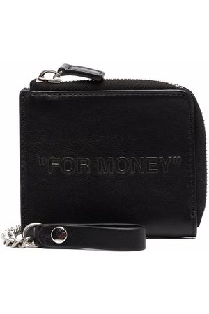 Off-White DEBOSSED QUOTE CHAIN WALLET
