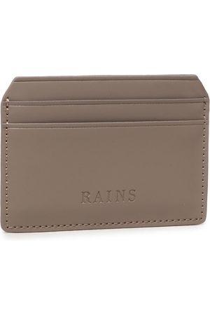 Rains Portmonetki i Portfele - Etui na karty kredytowe - Card Holder 1624 Taupe