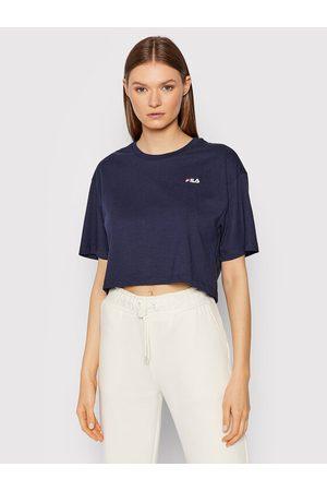 Fila T-Shirt Ellasyn 688929 Granatowy Cropped Fit