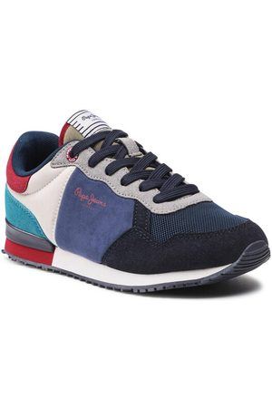 Pepe Jeans Sneakersy Archie Brit PLS31201 Granatowy