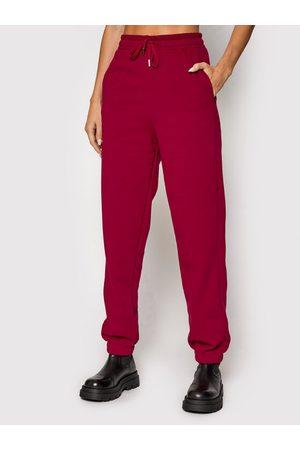 Gestuz Spodnie dresowe Rubigz 10905447 Bordowy Loose Fit