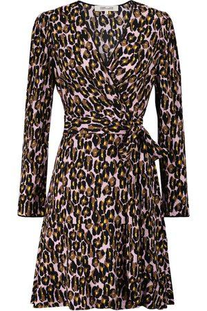 Diane von Furstenberg Charlene leopard print minidress