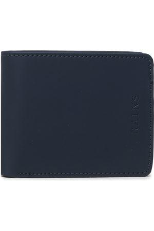 Rains Mężczyzna Portmonetki i Portfele - Duży Portfel Męski - Folded Wallet 1660 Blue