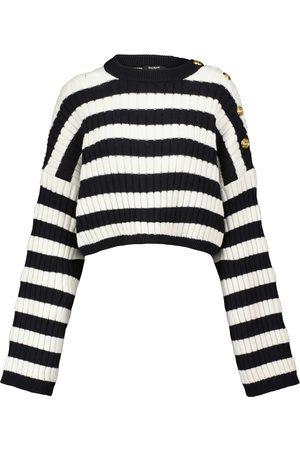 Balmain Cutout wool-blend sweater
