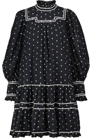 ULLA JOHNSON Kobieta Sukienki - Blanche polka-dot cotton minidress
