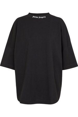 Palm Angels Kobieta Z krótkim rękawem - Logo oversized cotton jersey T-shirt