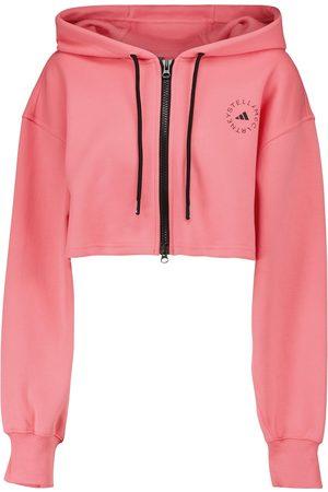 adidas by STELLA McCARTNEY Kobieta Bluzy sportowe - Cropped organic cotton hoodie