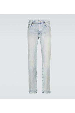 Saint Laurent Skinny-fit faded jeans