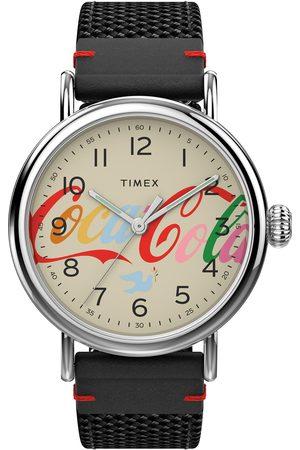 Timex Mężczyzna Zegarki - Zegarek - Standard TW2V26000 Black/Silver