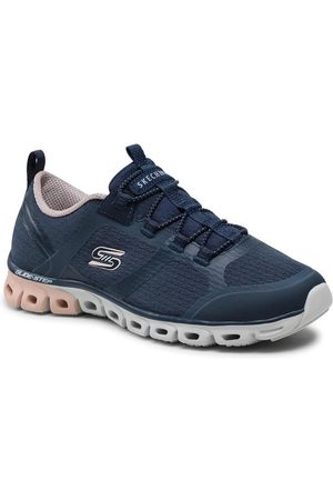 Skechers Kobieta Sneakersy - Sneakersy 104195/NVPK Granatowy