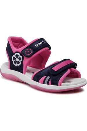 Superfit Dziewczynka Sandały - Sandały 1-606127-8010 D Granatowy