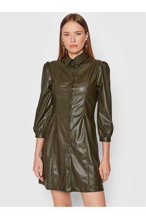Liu Jo Kobieta Sukienki dzienne - Sukienka z imitacji skóry WF1105 E0392 Slim Fit