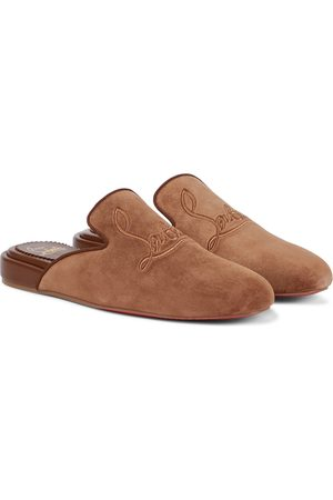 Christian Louboutin Kobieta Kapcie - Navy Coolito Donna suede slippers