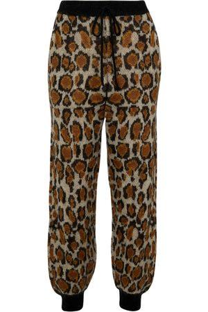ROTATE Rhea leopard-print sweatpants
