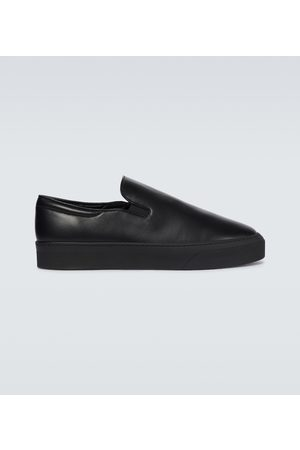 The Row Dean leather slip-on sneakers