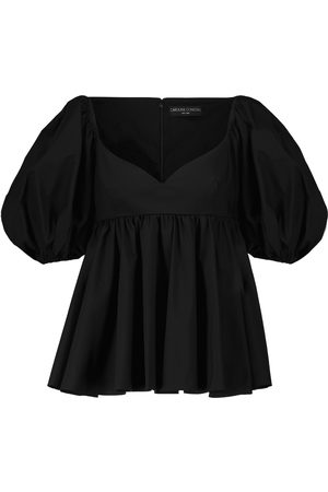 Caroline Constas Kobieta Topy - Leigh puff-sleeved cotton-blend top