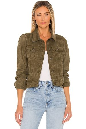 Free People Rumors Denim Jacket in - Army. Size L (also in M, S, XL, XS).