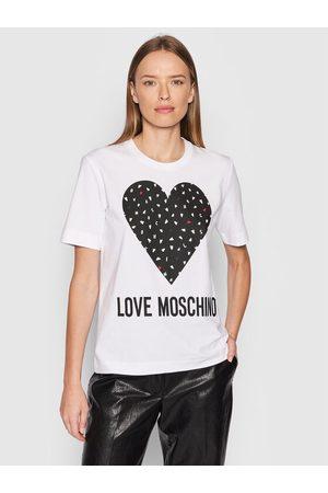 LOVE MOSCHINO Kobieta Z krótkim rękawem - T-Shirt W4F153FE 1951 Regular Fit