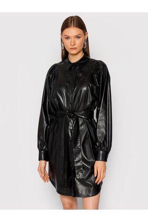 Twin-Set Kobieta Sukienki dzienne - Sukienka z imitacji skóry 212TT2050 Regular Fit