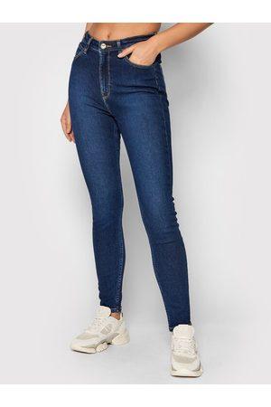 Lee Kobieta Skinny - Jeansy Montana L32EDTRY Granatowy Skinny Fit