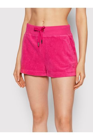 Juicy Couture Kobieta Szorty - Szorty materiałowe Terry JCCH121006 Regular Fit