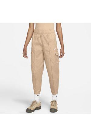 Nike Kobieta Dresy - Damskie spodnie z tkaniny z wysokim stanem podkreślające sylwetkę Sportswear Essentials