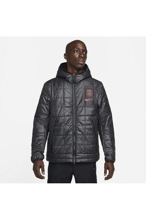 Nike Mężczyzna Kurtki - Męska kurtka dzianinowa Paris Saint-Germain Synthetic-Fill - Czerń