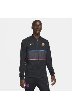 Nike Mężczyzna Kurtki sportowe - Męska kurtka piłkarska z zamkiem na całej długości FC Barcelona - Czerń
