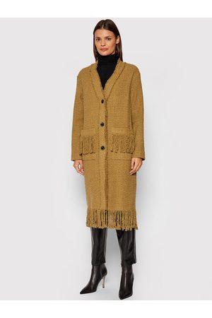 Pinko Płaszcz przejściowy Tweed Boucle 1G16HL 8580 Regular Fit
