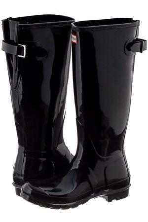 Hunter Kobieta Kalosze - Kalosze Original Back Adjustable Gloss Black WFT1001RGL (HU19-a)